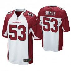 Arizona Cardinals #53 A. Q. Shipley White Game Jersey