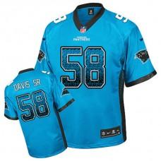 Carolina Panthers #58 Thomas Davis Sr Blue Drift Fashion Jersey