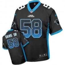 Carolina Panthers #58 Thomas Davis Sr Black Drift Fashion Jersey