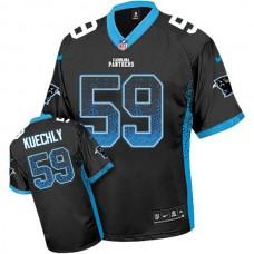 Carolina Panthers #59 Luke Kuechly Black Drift Fashion Jersey