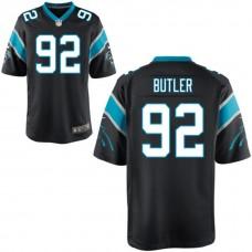 Carolina Panthers #92 Vernon Butler Black 2016 Draft Pick Game Jersey