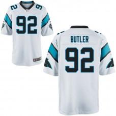 Carolina Panthers #92 Vernon Butler White Game Jersey