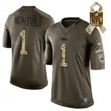 Carolina Panthers #1 Cam Newton Green Salute To Service Limited Jersey