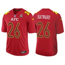 2017 Pro Bowl AFC Casey Hayward Red Game Jersey