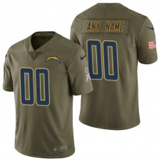 Los Angeles Chargers Olive 2017 Salute to Service Limited Customized Jersey
