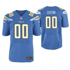 Los Angeles Chargers Blue Elite Customized Jersey