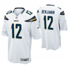 Los Angeles Chargers #12 Travis Benjamin White Game Jersey