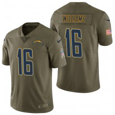 Los Angeles Chargers #16 Tyrell Williams Olive 2017 Salute to Service Limited Jersey