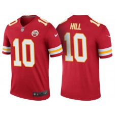 Kansas City Chiefs #10 Tyreek Hill Red Color Rush Legend Jersey - Light Up Thursday Night