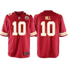 Kansas City Chiefs #10 Tyreek Hill Red Game Jersey