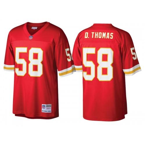 timeless design cdfc9 8ba23 Kansas City Chiefs #58 Derrick Thomas Red Retired Player ...