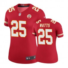 Women's Kansas City Chiefs #25 Armani Watts Red Color Rush Legend Jersey