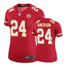Women's Kansas City Chiefs #24 David Amerson Red Color Rush Legend Jersey