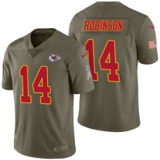 Kansas City Chiefs #14 Demarcus Robinson Olive 2017 Salute to Service Limited Jersey