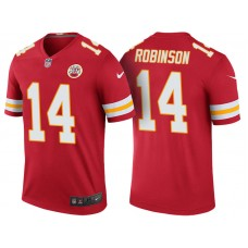 Kansas City Chiefs #14 Demarcus Robinson Red Color Rush Legend Jersey