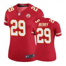 Women's Kansas City Chiefs #29 Eric Berry Red Color Rush Legend Jersey
