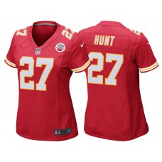 Women's Kansas City Chiefs #27 Kareem Hunt Red Game Jersey
