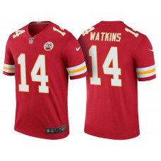 Women's Kansas City Chiefs #14 Sammy Watkins Red Color Rush Legend Jersey