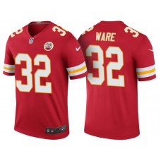 Women's Kansas City Chiefs #32 Spencer Ware Red Color Rush Legend Jersey