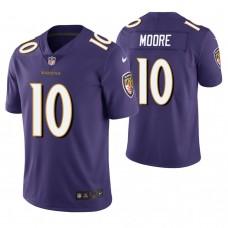 Baltimore Ravens #10 Chris Moore Purple Vapor Untouchable Limited Jersey