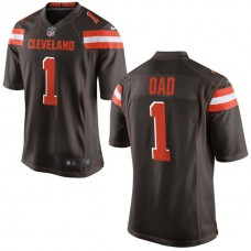 Cleveland Browns Brown #1 Dad Jersey - Father's Day