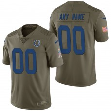 Indianapolis Colts Olive 2017 Salute to Service Limited Customized Jersey