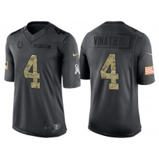 Indianapolis Colts #4 Adam Vinatieri Camo Anthracite 2016 Salute to Service Limited Jersey