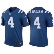 Indianapolis Colts #4 Adam Vinatieri Royal Color Rush Legend Jersey
