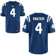 Indianapolis Colts #4 Adam Vinatieri Royal Elite Jersey