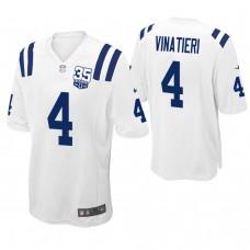 Indianapolis Colts #4 Adam Vinatieri White 35th Anniversary Game Jersey