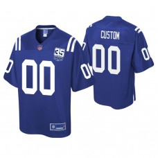Youth Indianapolis Colts 35th Anniversary player Pro Line Royal Customized Jersey