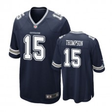 Youth Dallas Cowboys #15 Deonte Thompson Navy Game Jersey