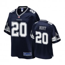 Youth Dallas Cowboys #20 Marqueston Huff Navy Player Pro Line Jersey