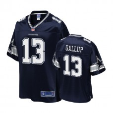 Youth Dallas Cowboys #13 Michael Gallup Navy Player Jersey