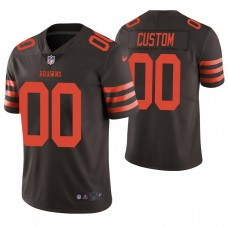 Cleveland Browns # Brown Vapor Untouchable Limited Player Customized Jersey
