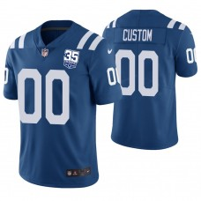 Indianapolis Colts Royal 35th Anniversary Vapor Untouchable Limited Player Customized Jersey