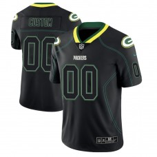 Green Bay Packers 2018 Lights Out Color Rush Limited Black Customized Jersey