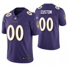 Baltimore Ravens Purple Vapor Untouchable Limited Customized Jersey