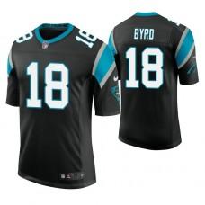 Carolina Panthers #18 Damiere Byrd Black Vapor Untouchable Limited Player Jersey