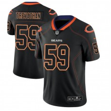Chicago Bears #59 Danny Trevathan 2018 Lights Out Color Rush Limited Black Jersey