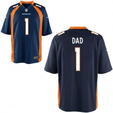 Denver Broncos Navy Blue #1 Dad Jersey - Father's Day