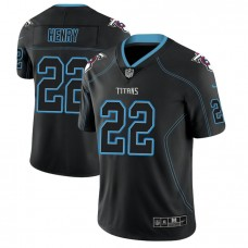 Tennessee Titans #22 Derrick Henry 2018 Lights Out Color Rush Limited Black Jersey