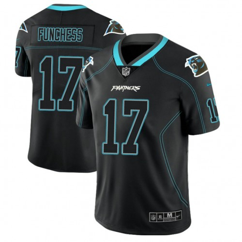 Carolina Panthers #17 Devin Funchess 2018 Lights Out Color Rush Limited Black Jersey