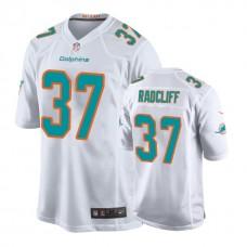 Miami Dolphins #37 Brandon Radcliff White New 2018 Game Jersey