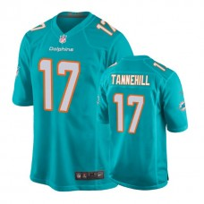 Miami Dolphins #17 Ryan Tannehill Aqua New 2018 Game Jersey