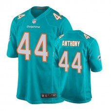 Miami Dolphins #44 Stephone Anthony Aqua New 2018 Game Jersey