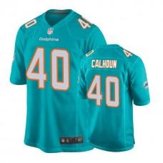 Miami Dolphins #40 Taveze Calhoun Aqua New 2018 Game Jersey