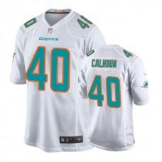 Miami Dolphins #40 Taveze Calhoun White New 2018 Game Jersey