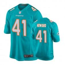 Miami Dolphins #41 Tracy Howard Aqua New 2018 Game Jersey