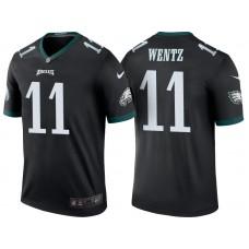 Philadelphia Eagles #11 Carson Wentz Black Color Rush Legend Jersey